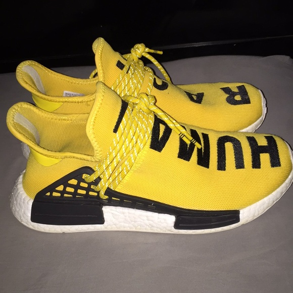 "Nmd ""Human Race"" in yellow"